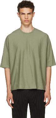 Homme Plisse Issey Miyake , Green Release T Shirt