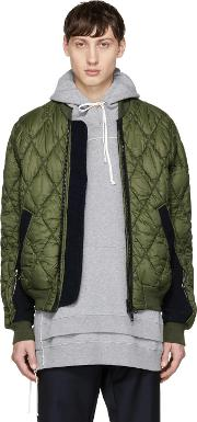 Tim Coppens , Green Quilted Ma 1 Bomber