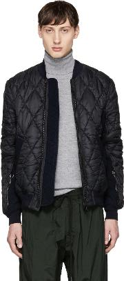 Tim Coppens , Black Quilted Ma 1 Bomber