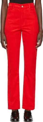 Martine Rose , Red Corduroy Trousers