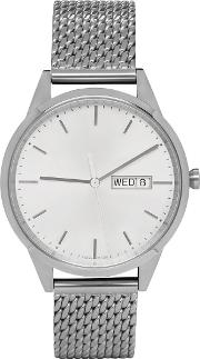 Uniform Wares , Silver Mesh C40 Calendar Watch