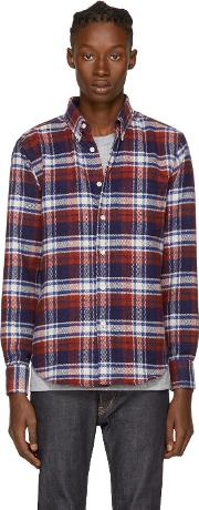Naked And Famous Denim , Tricolor Flannel Plaid Shirt