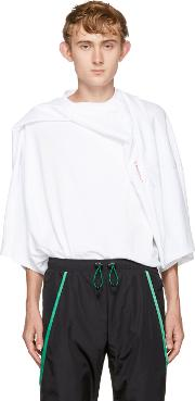 Yproject , Y Project White Oversized Deconstructed T Shirt