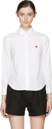 White , Small Heart Shirt