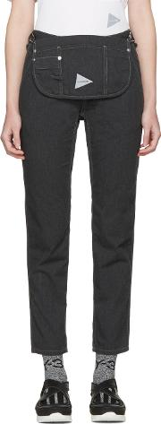 And Wander , Black Pocket Trousers