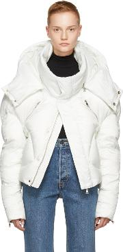 Chen Peng , White Short Quilted Puffer Jacket