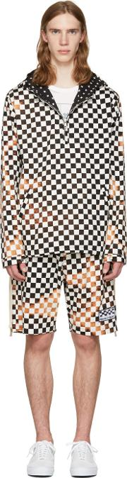 Herman , Black And White Checker Pullover Jacket