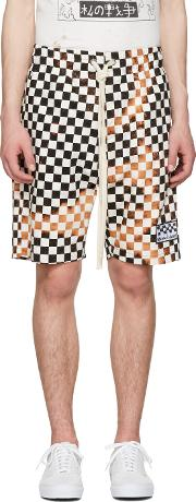 Herman , Black And White Checker Shorts