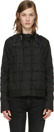 Moncler Gamme Rouge , Black Down Quilted Duchess Jacket