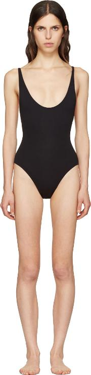 Proenza Schouler , Black Lace Back Swimsuit