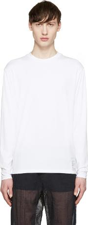 Satisfy , White Long Sleeve Packable T Shirt
