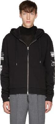 Tiger Of Sweden Jeans , Black Diff Patches Zip Hoodie