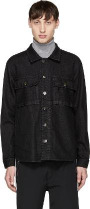 Tim Coppens , Black Denim Writing Shirt