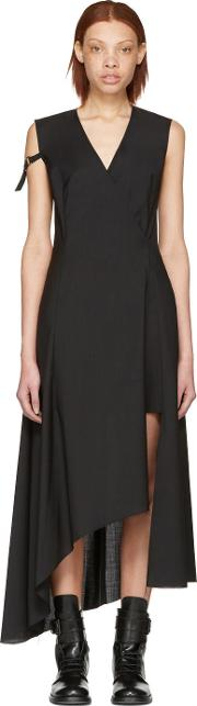 Yang Li , Black Asymmetric Cross Over Dress
