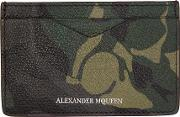 Alexander Mcqueen , Green Camo Card Holder
