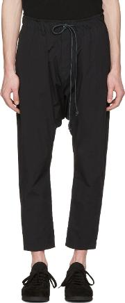 Attachment , Black Slim Cropped Trousers