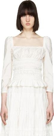 Brock Collection , White Taylor Blouse