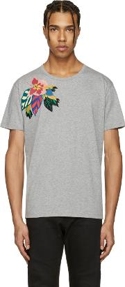 Butterfly , Grey Flower And  T Shirt
