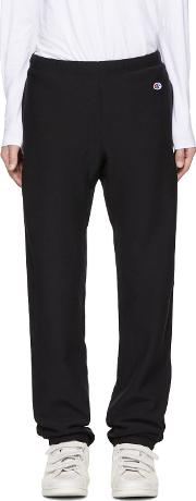 Champion Reverse Weave , Black Small Logo Lounge Pants