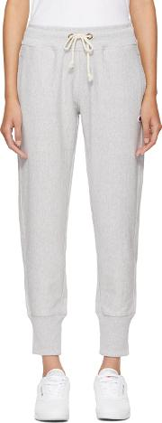 Champion Reverse Weave , Grey Logo Lounge Pants