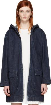 Cocoon , Blue  Hooded Jacket