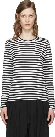 Comme Des Garcons Girl , White And Black Striped T Shirt