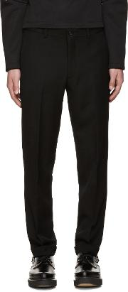 Comme Des Garcons Homme Plus , Black Wool Cuffed Trousers