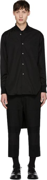 Comme Des Garcons Shirt , Black Cropped Shirt