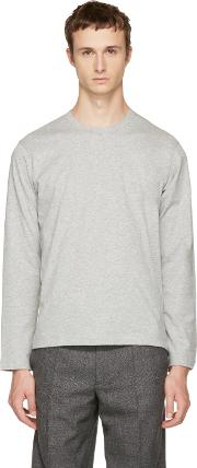 Comme Des Garcons Shirt , Grey Long Sleeve Basic T Shirt