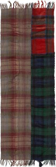 Comme Des Garcons Shirt , Multicolor Wool Tartan Mix Scarf