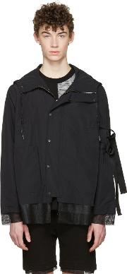 D By D , Black Hooded Jacket