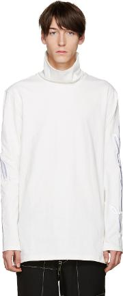 D By D , White Embroidered Turtleneck