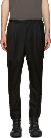 Dgnak By Kangd , D.gnak By Kang.d Black Cropped Eyelet Trousers