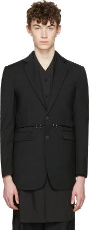 Dgnak By Kangd , D.gnak By Kang.d Black Cut Out And Rings Blazer