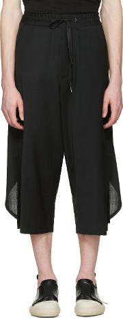 Dgnak By Kangd , D.gnak By Kang.d Black Overlapped Back Trousers