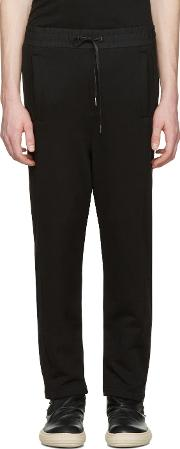 Dgnak By Kangd , D.gnak By Kang.d Black Side Snaps Lounge Pants