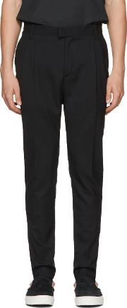Diet Butcher Slim Skin , Diet Butcher Slim Skin Black Tapered Two Tacks Trousers