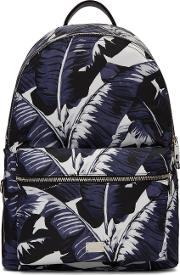 Dolce And Gabbana , Multicolor Banana Leaves Print Backpack