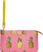 Dolce And Gabbana , Pink Pineapple Pouch