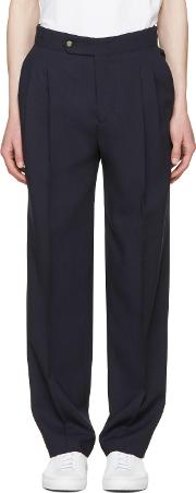 Editions Mr , Editions M.r Navy High Waist Trousers