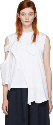 Enfold , White Reconstructed Jersey T Shirt