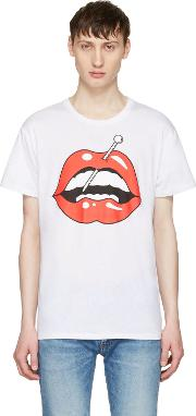 Herman , White Lips T Shirt