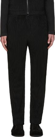 Homme Plisse Issey Miyake , Black Pleated Tailored Trousers