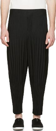 Homme Plisse Issey Miyake , Black Two Type Pleated Trousers
