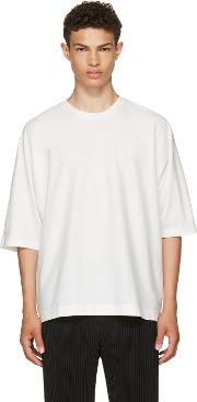 Homme Plisse Issey Miyake , White Release T Shirt