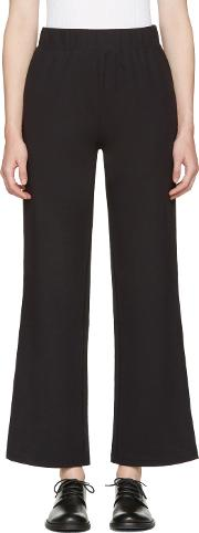 Hyke , Navy Band Wide Trousers