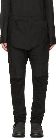 Julius , Black Layered Bands Trousers