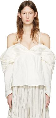Jw Anderson , J.w. Anderson Off White Off The Shoulder Top