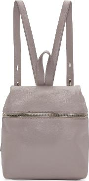 Kara , Pink Leather Small Backpack