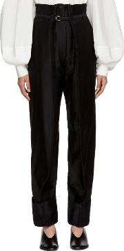 Lemaire , Lemaire Black Cargo Trousers